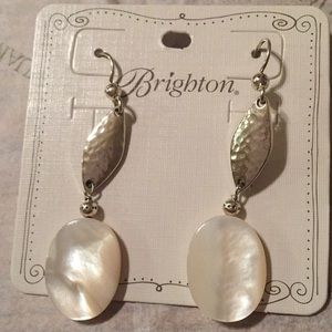 Brighton Silver Mother of Pearl Earrings